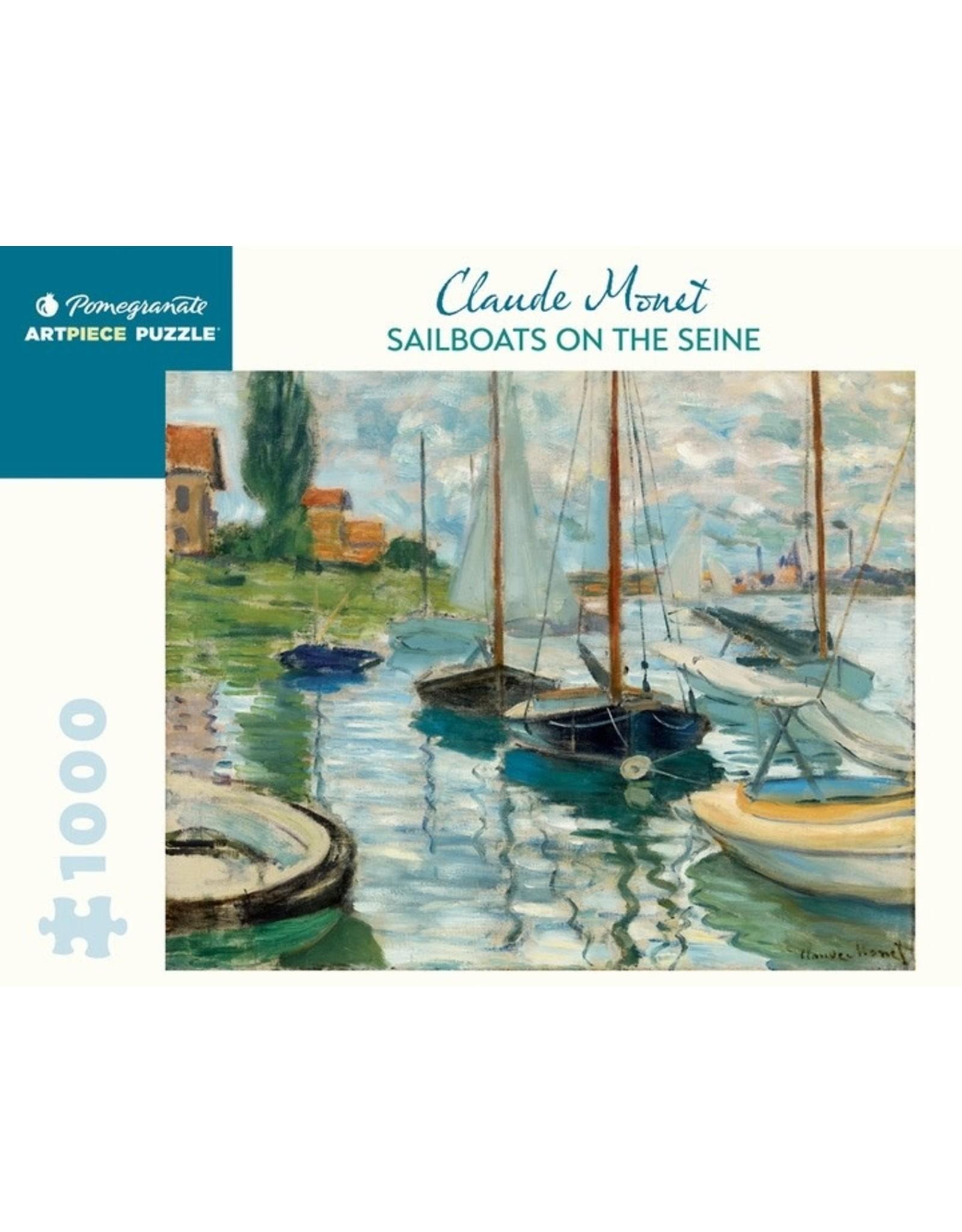 "Pomegranate ""Sailboats on the Seine"" 1000 Piece Puzzle"