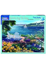 """White Mountain Puzzle """"Garden by the Bay"""" 1000 Piece Puzzle"""