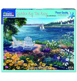 "White Mountain Puzzle ""Garden by the Bay"" 1000 Piece Puzzle"