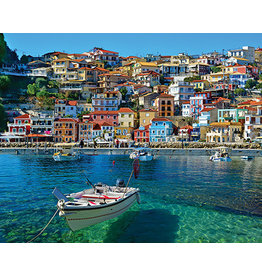 "White Mountain Puzzle ""Parga Greece"" 1000 Piece Puzzle"