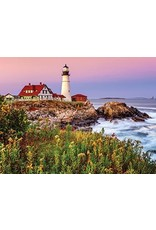 """White Mountain Puzzle """"Maine Lighthouse"""" 1000 Piece Puzzle"""