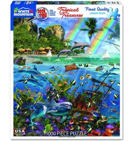 "White Mountain Puzzle ""Tropical Treasures"" 1000 Piece Puzzle"