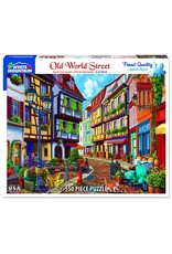 """White Mountain Puzzle """"Old World Street"""" 550 Piece Puzzle"""