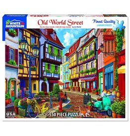 "White Mountain Puzzle ""Old World Street"" 550 Piece Puzzle"