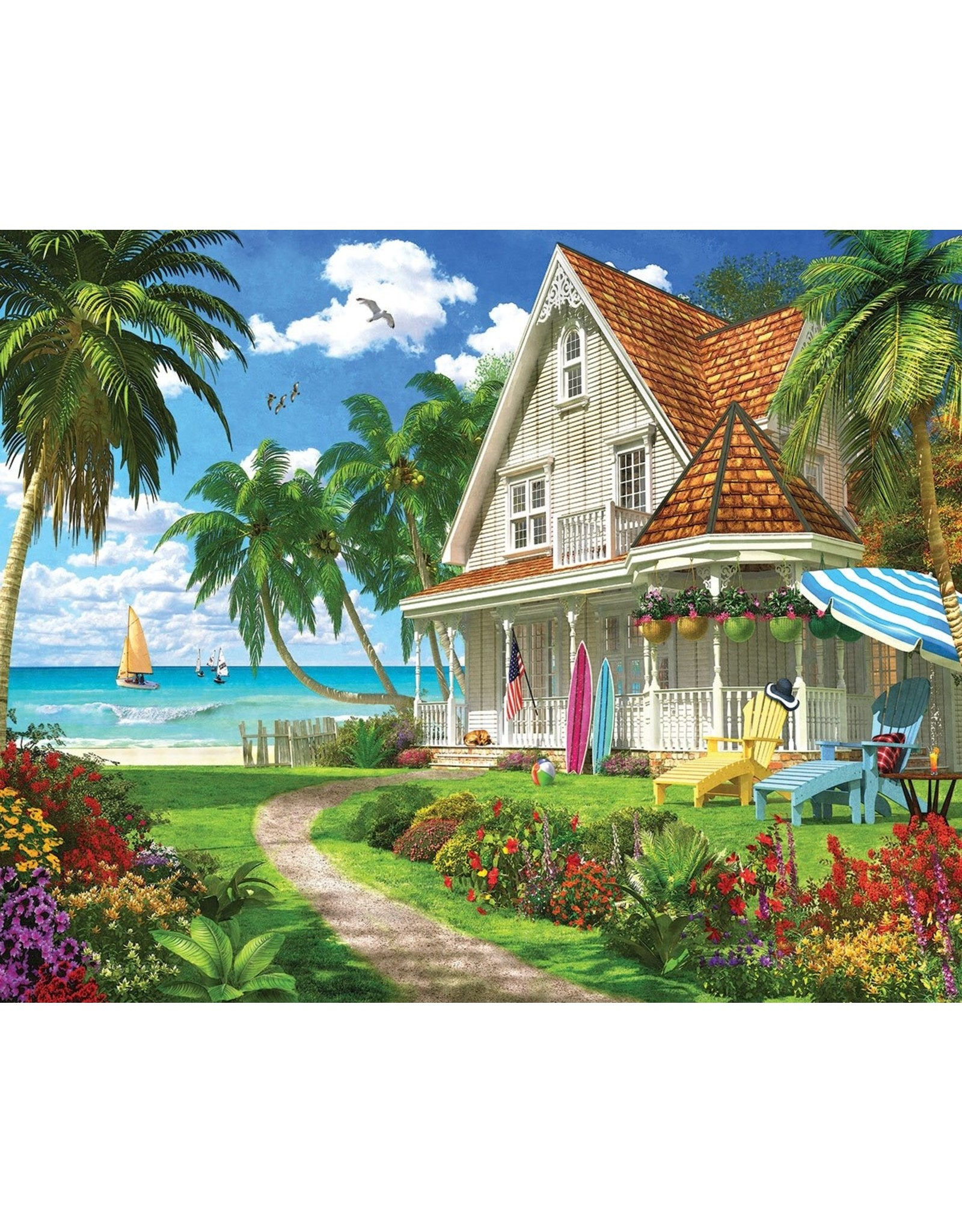 "White Mountain Puzzle ""Beach House"" 1000 Piece Puzzle"