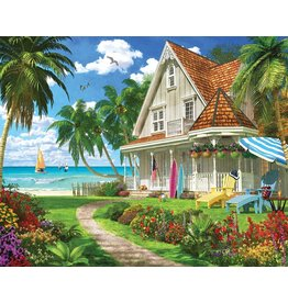 "White Mountain Puzzle ""Beach House"" 1000 Piece Puzzle"