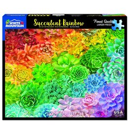 "White Mountain Puzzle ""Succulent Rainbow"" 1000 Piece Puzzle"