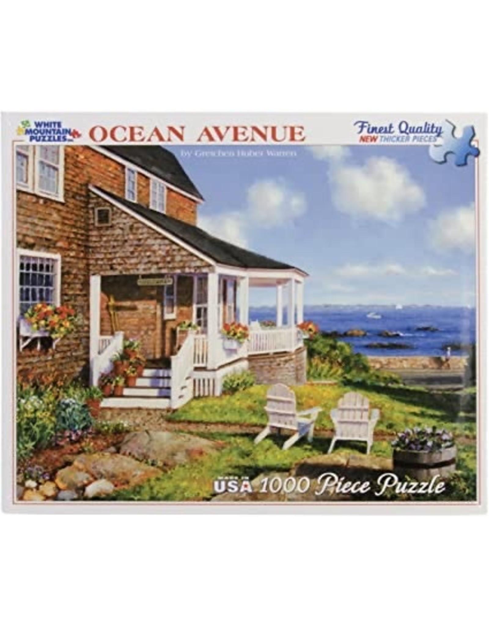 """White Mountain Puzzle """"Ocean Avenue"""" 1000 Piece Puzzle"""