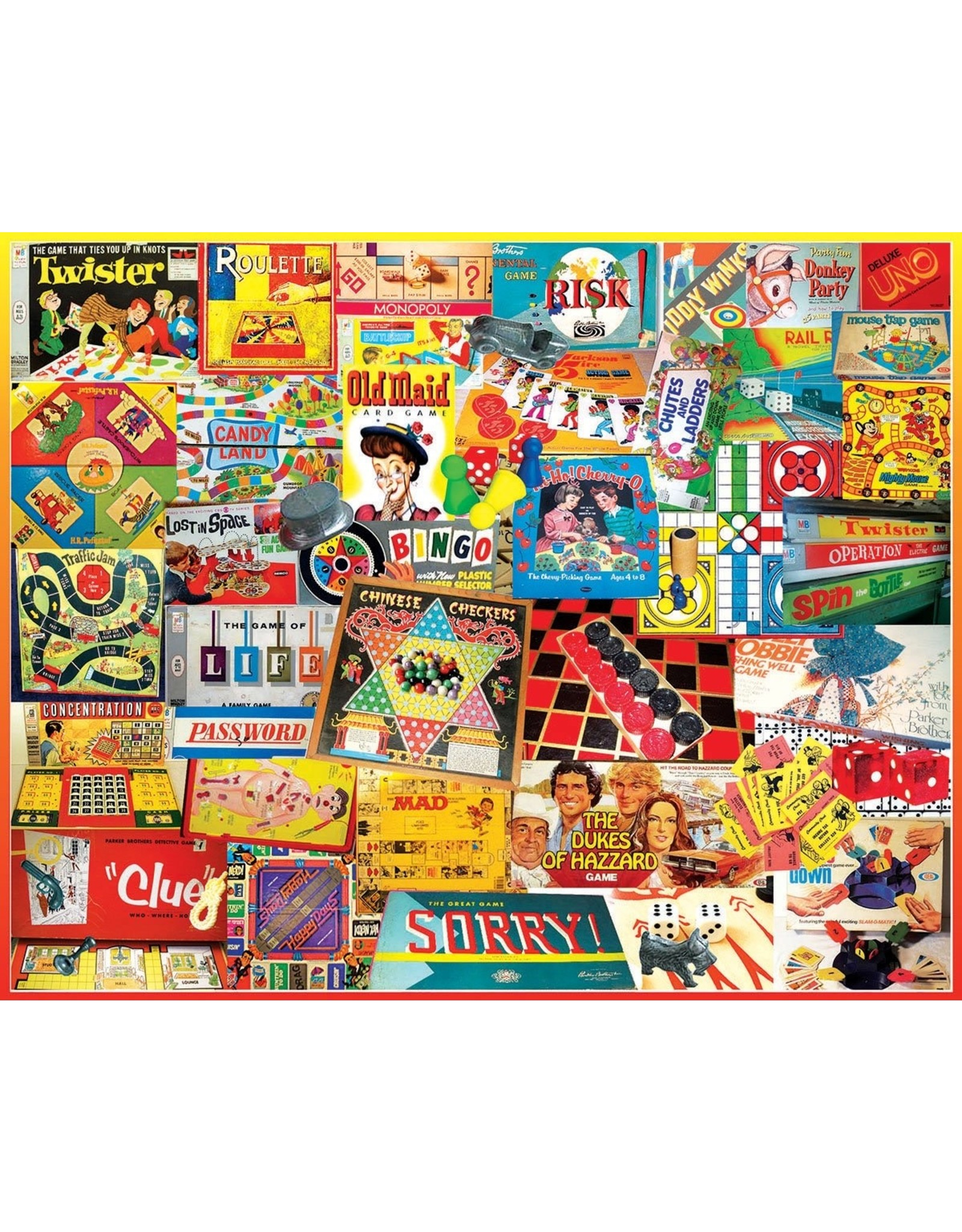 """White Mountain Puzzle """"Games We Played"""" 1000 Piece Puzzle"""