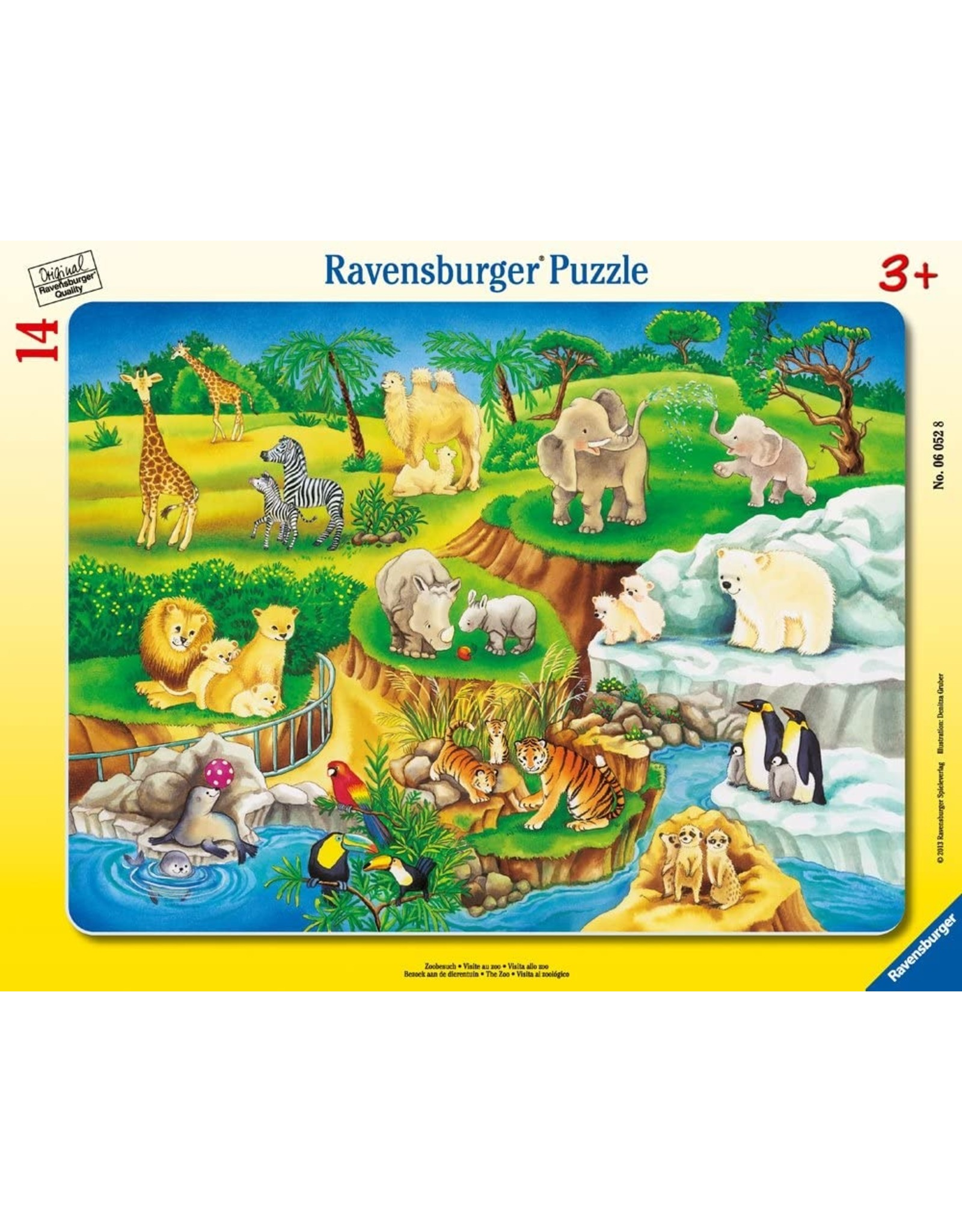 Ravensburger Puzzle 15 pc The Zoo