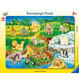 """Ravensburger """"The Zoo"""" 14 Piece Board Puzzle"""