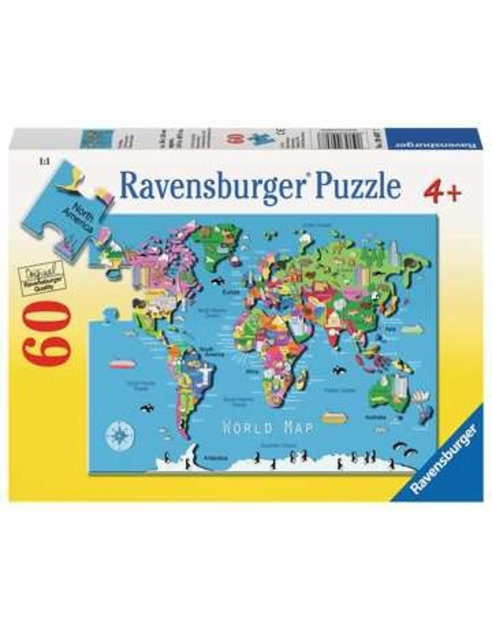 "Ravensburger ""World Map"" 60 Piece Puzzle"
