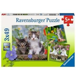 "Ravensburger ""Tiger Kittens"" 3X 49 Piece Puzzles"