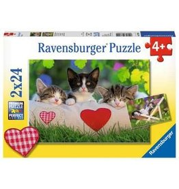 "Ravensburger ""Sleepy Kittens"" 2x 24 Piece Puzzles"