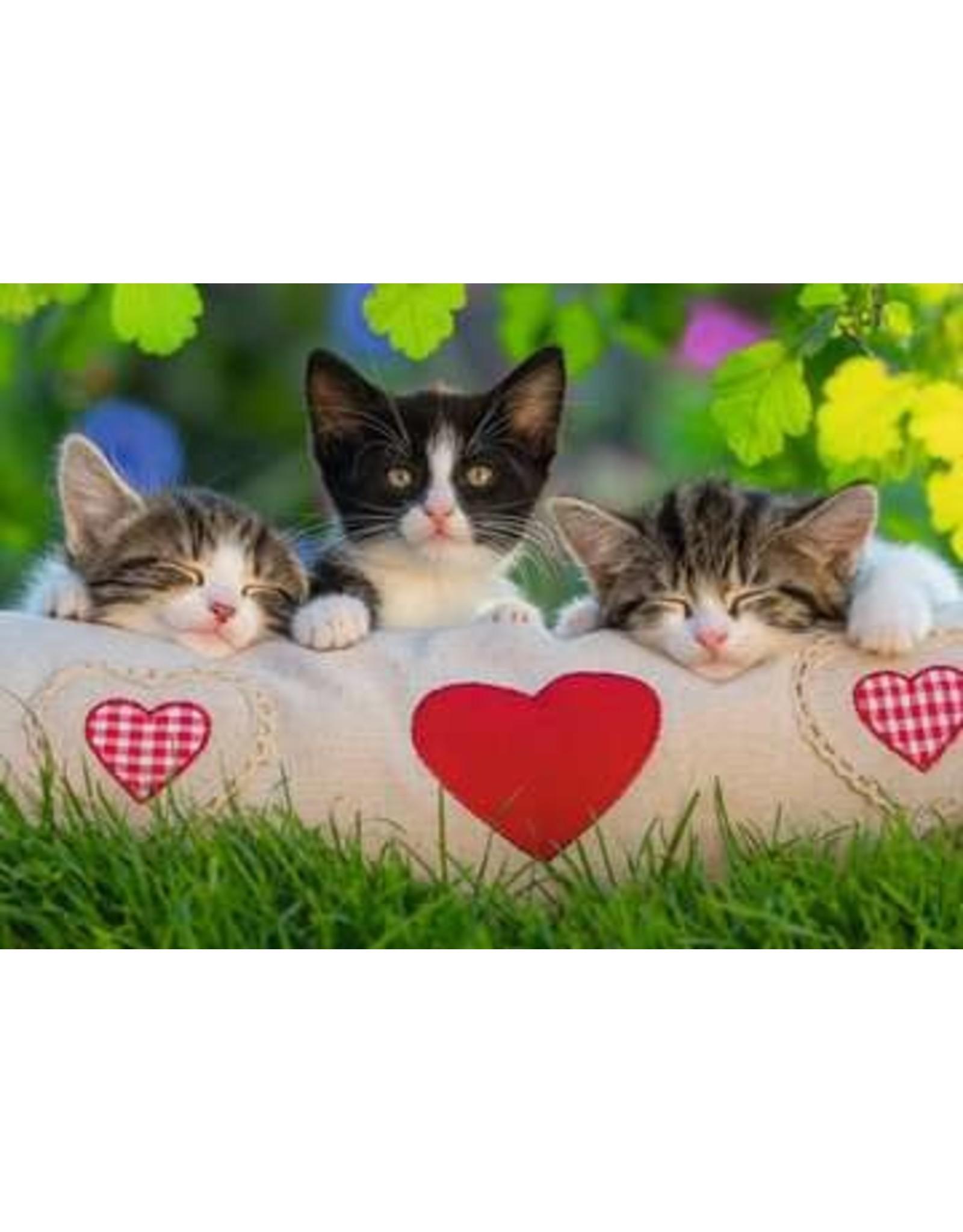 """Ravensburger """"Sleepy Kittens"""" 2x 24 Piece Puzzles"""