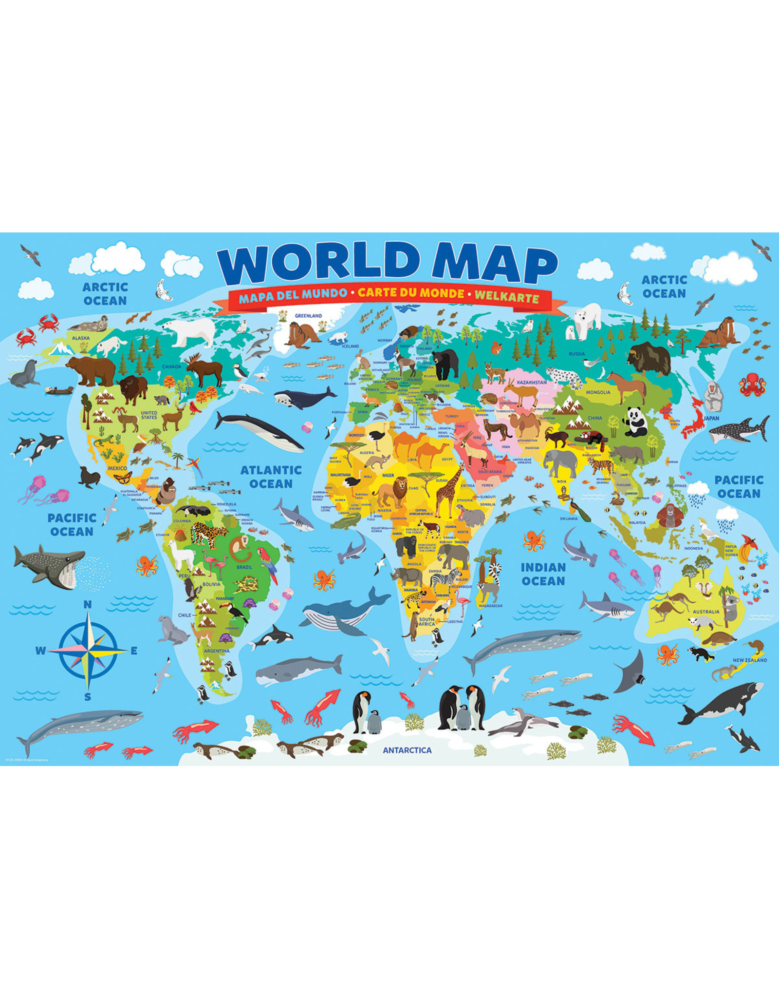 "Eurographics ""World Map"" 100 Piece Puzzle"