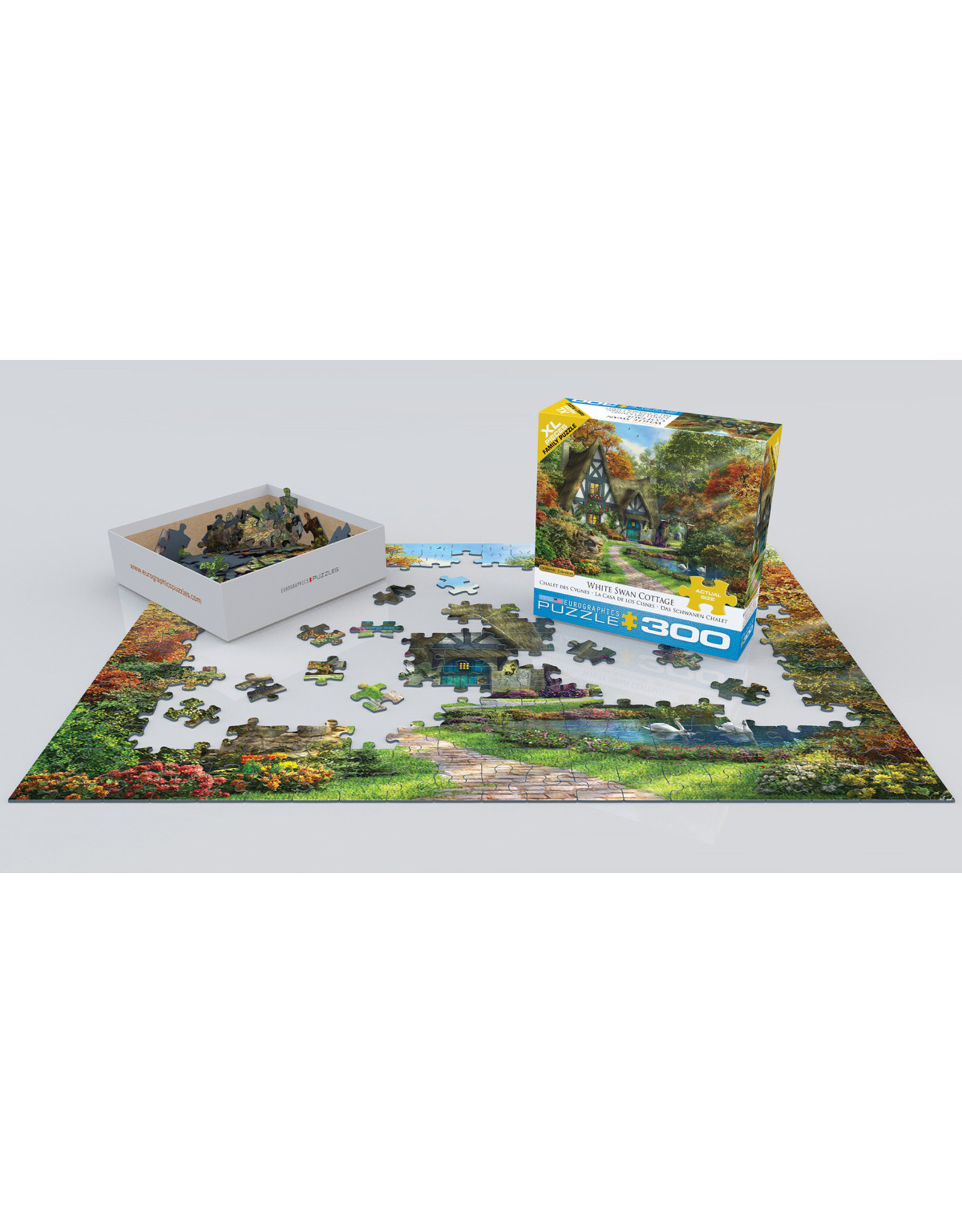 "Eurographics ""White Swan Cottage"" 300 Piece Puzzle"