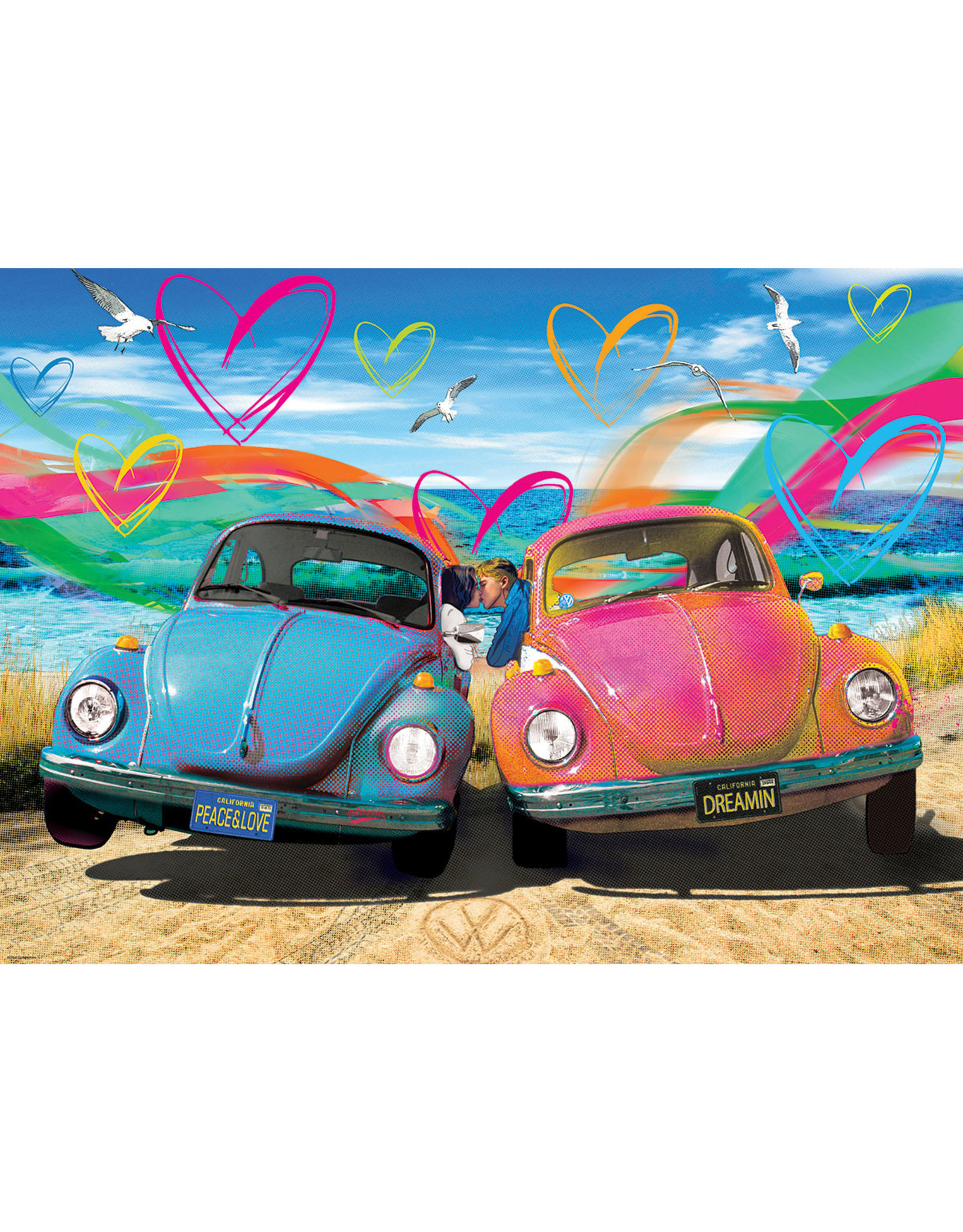 "Eurographics ""VW Beetle Love"" 1000 Piece Puzzle"