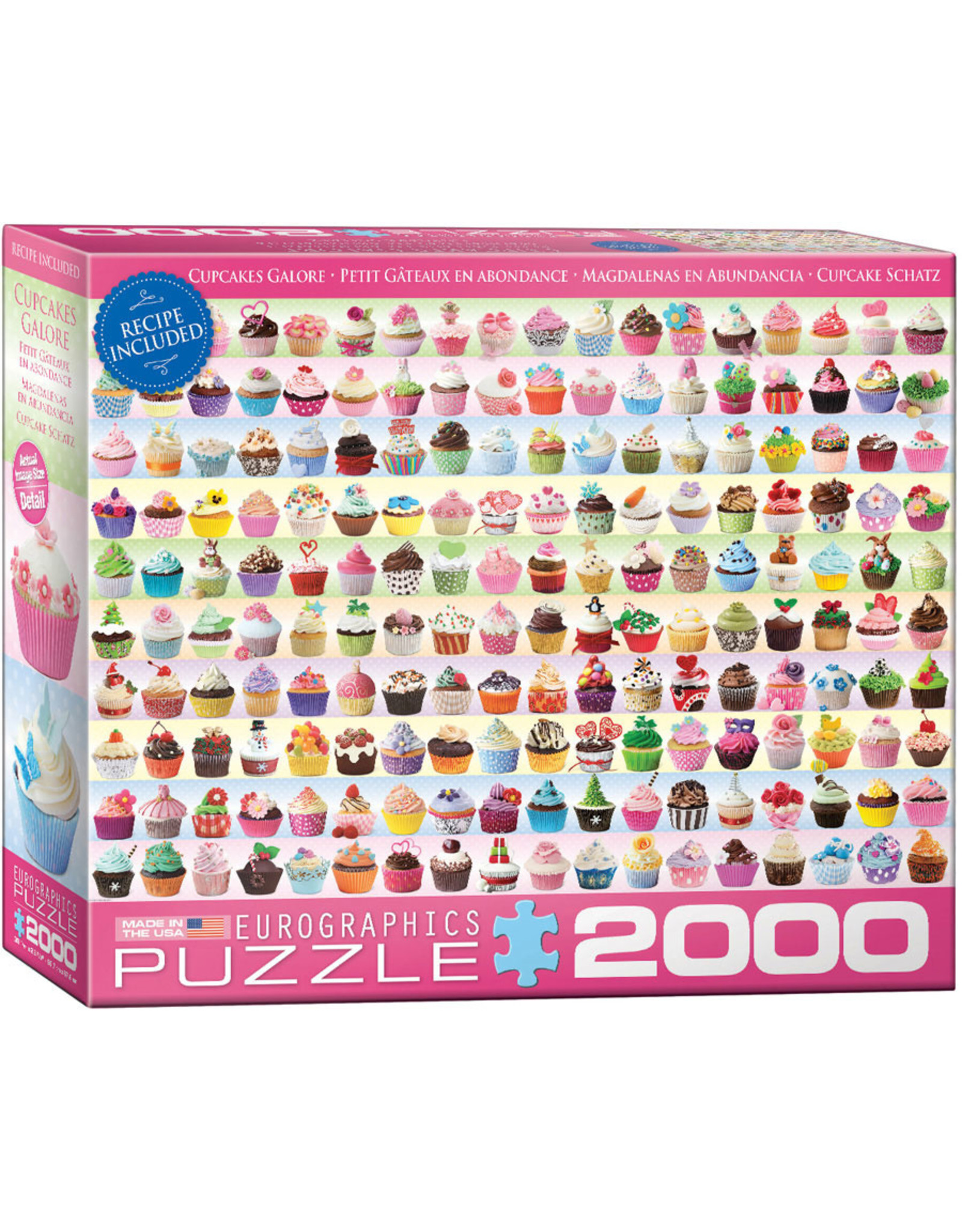 "Eurographics ""Cupcakes Galore"" 2000 Piece Puzzle"