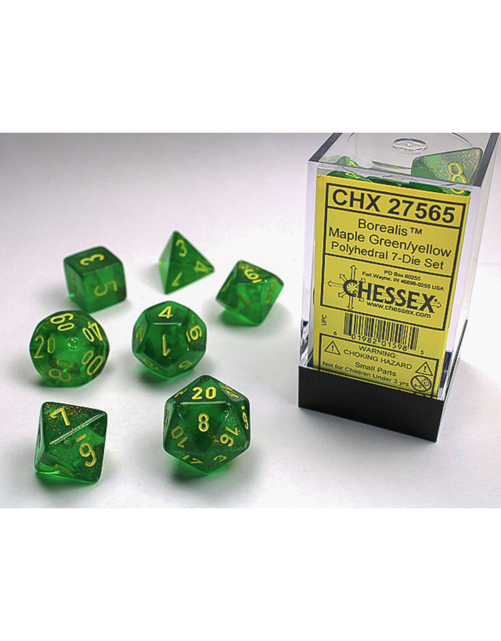 "Chessex Chessex ""Borealis"" & ""Scarab"" Dice Sets"