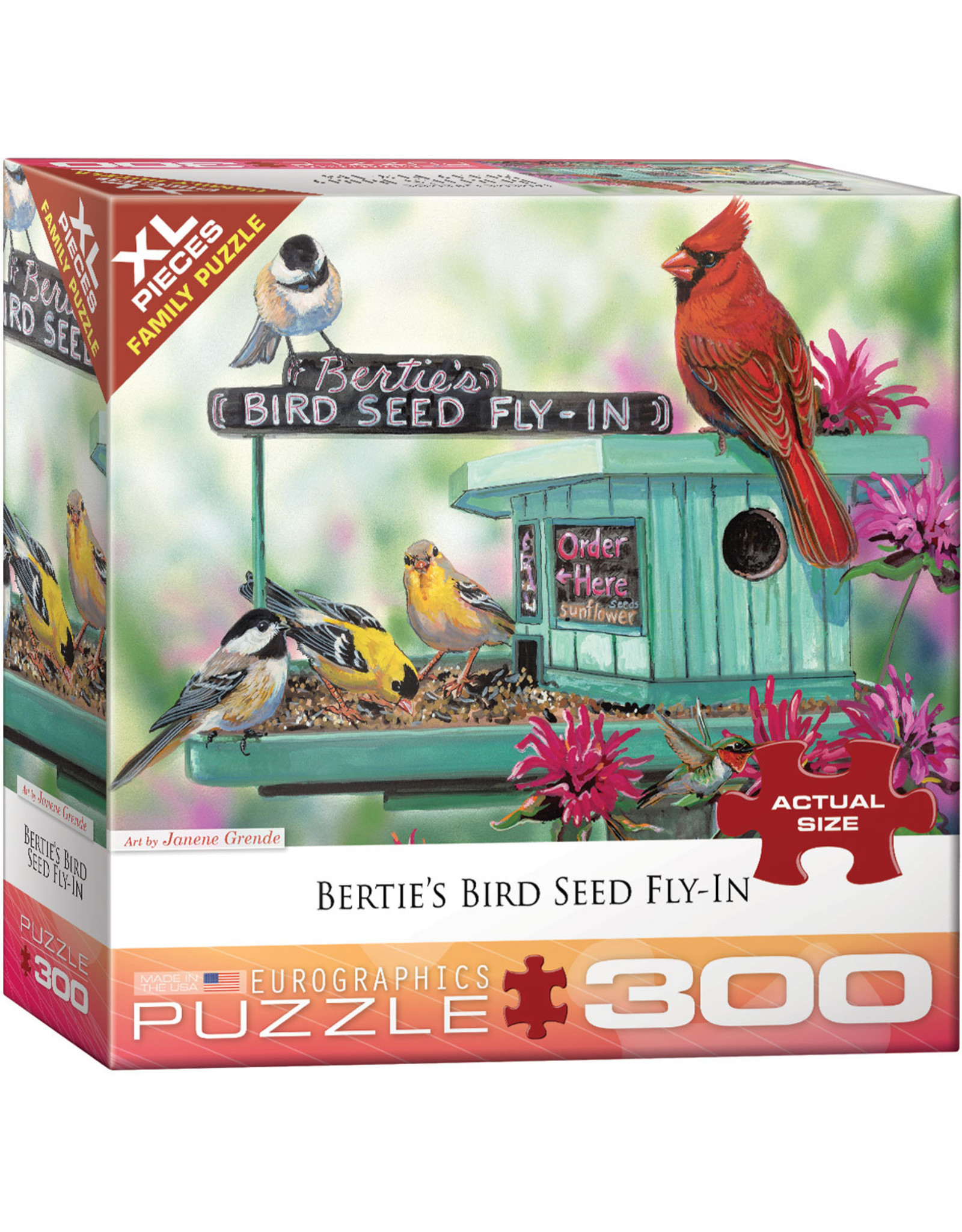 "Eurographics ""Bertie's Bird Seed Fly-In"" 300 Piece Puzzle"