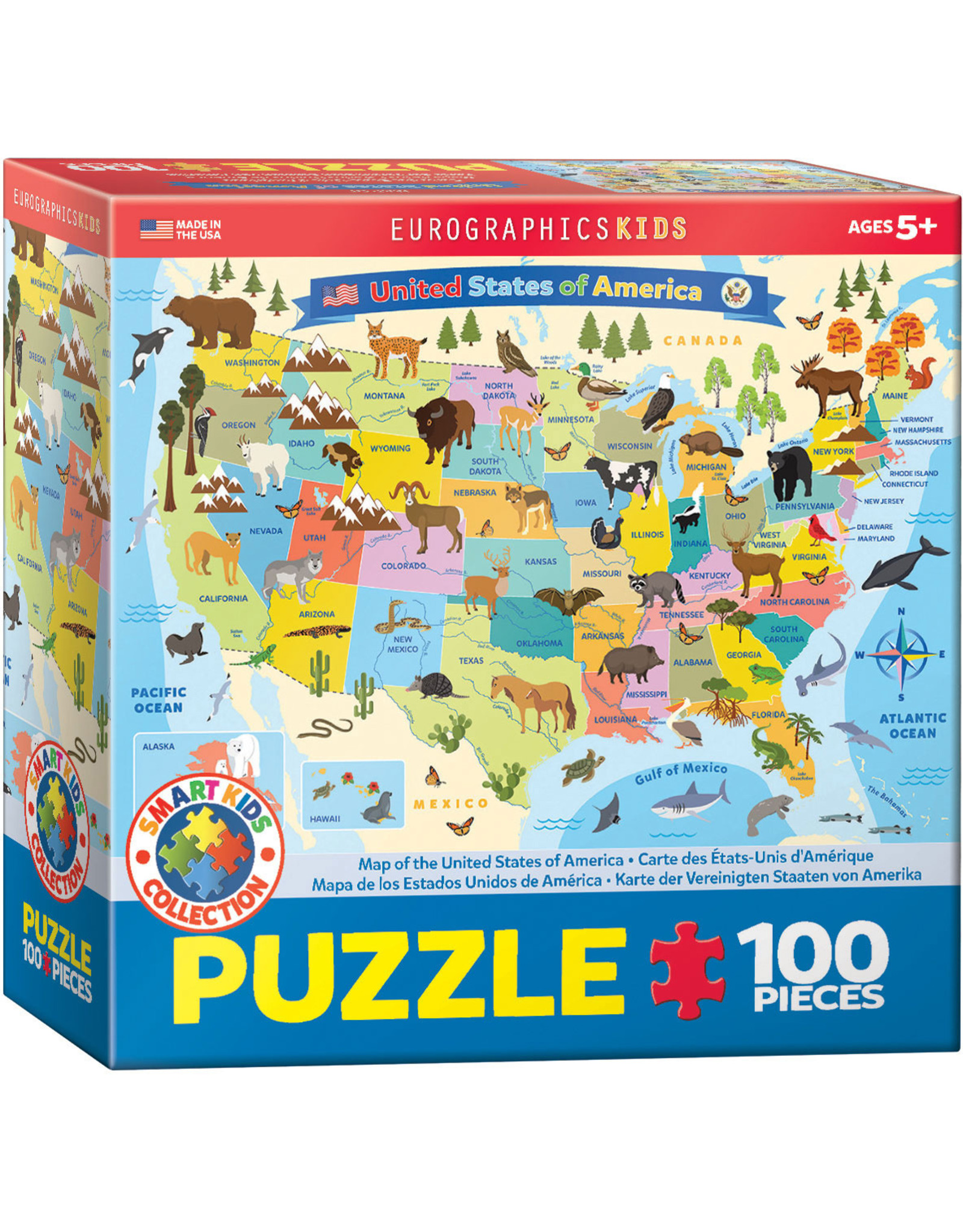 "Eurographics ""United States of America"" 100 Piece Puzzle"