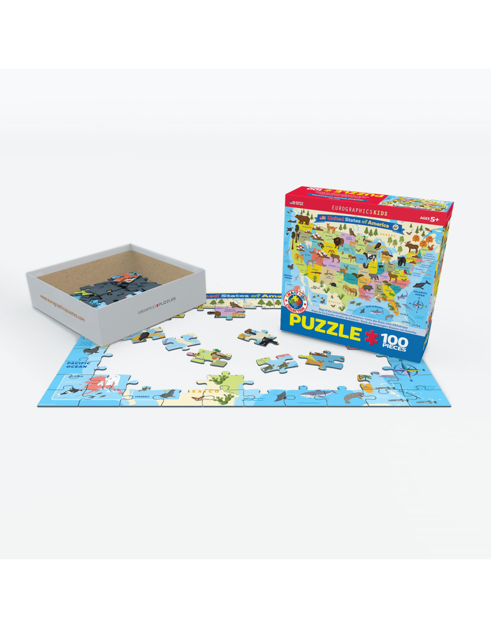 """Eurographics """"United States of America"""" 100 Piece Puzzle"""