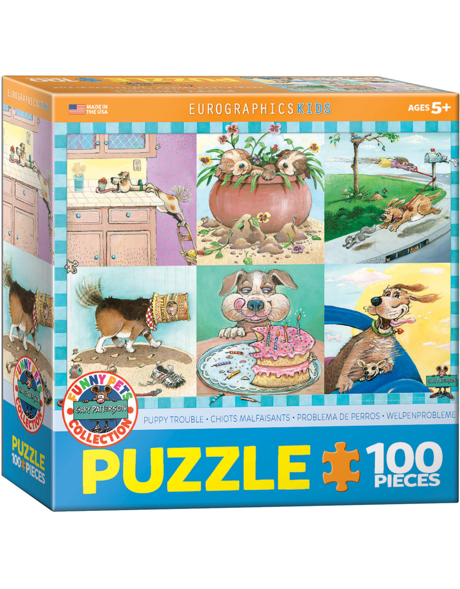 """Eurographics """"Puppy Trouble"""" 100 Piece Puzzle"""