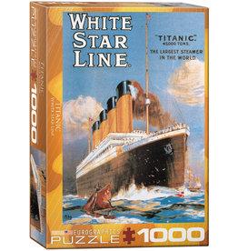 "Eurographics ""Titanic White Star Line"" 1000 Piece Puzzle"