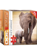 "Eurographics ""Elephant & Baby"" 300 Piece Puzzle"