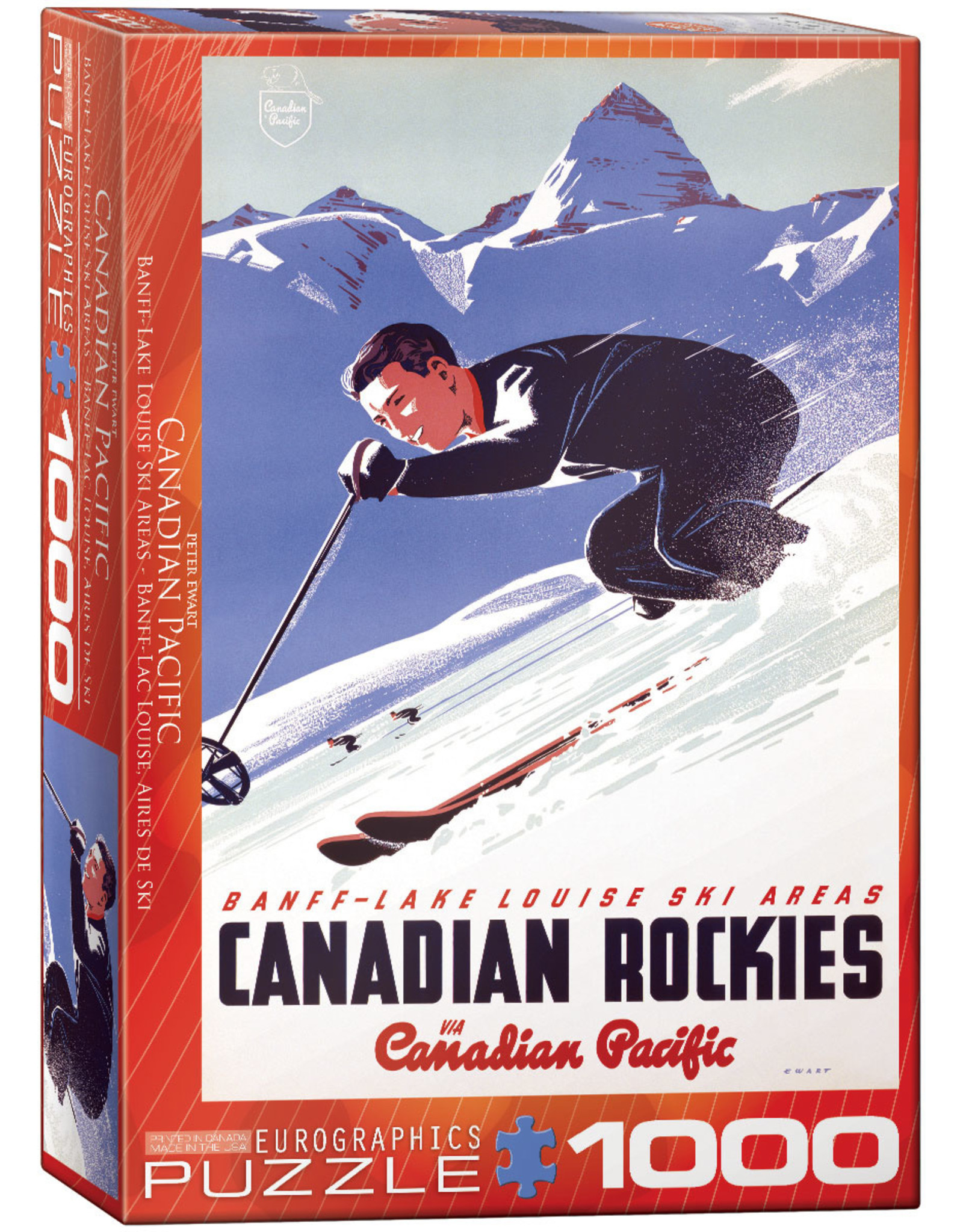 "Eurographics ""Banff Lake Louise Ski Areas"" 1000 Piece Puzzle"