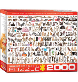 "Eurographics ""The World of Cats""  2000 Piece Puzzle"