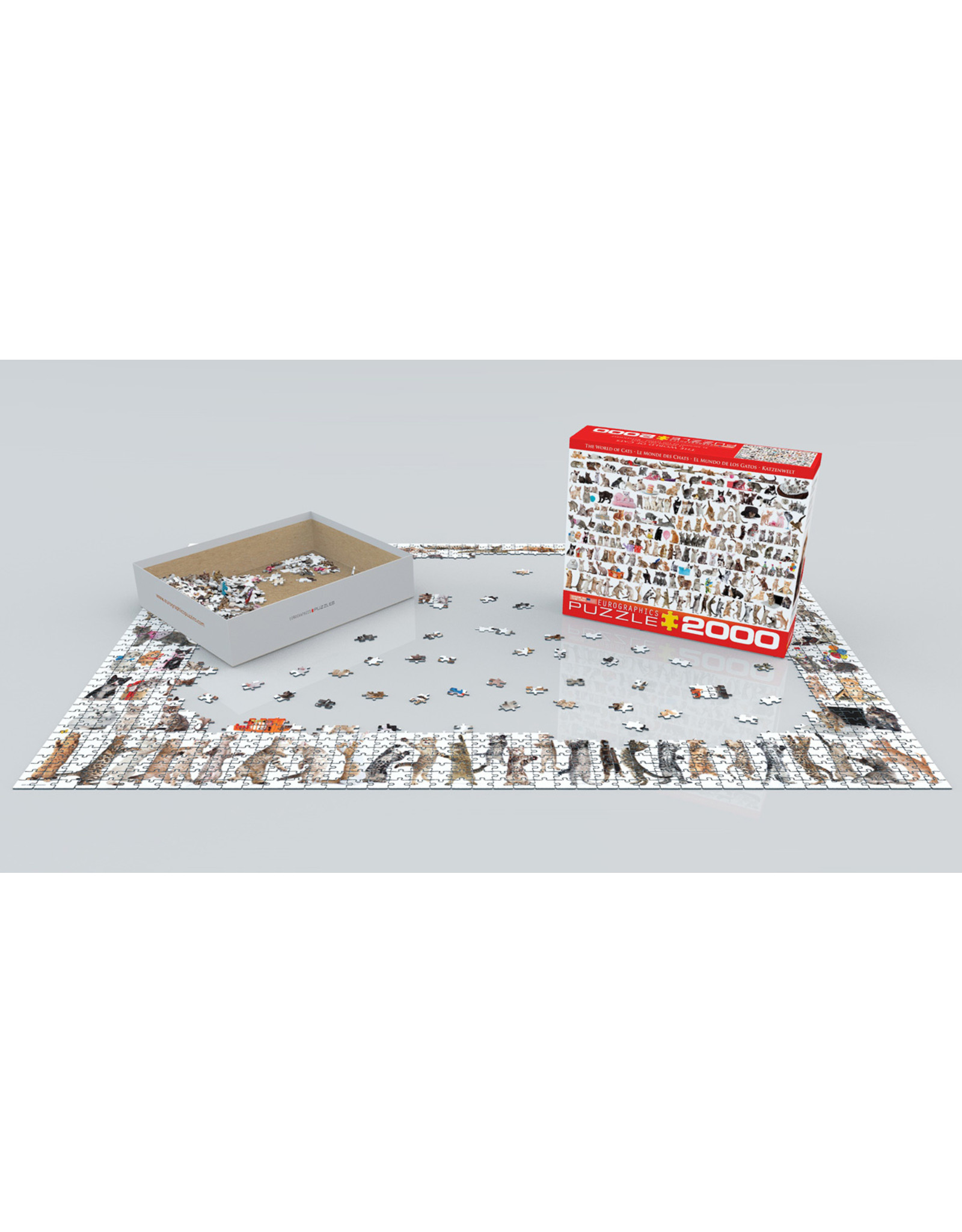 """Eurographics """"The World of Cats""""  2000 Piece Puzzle"""