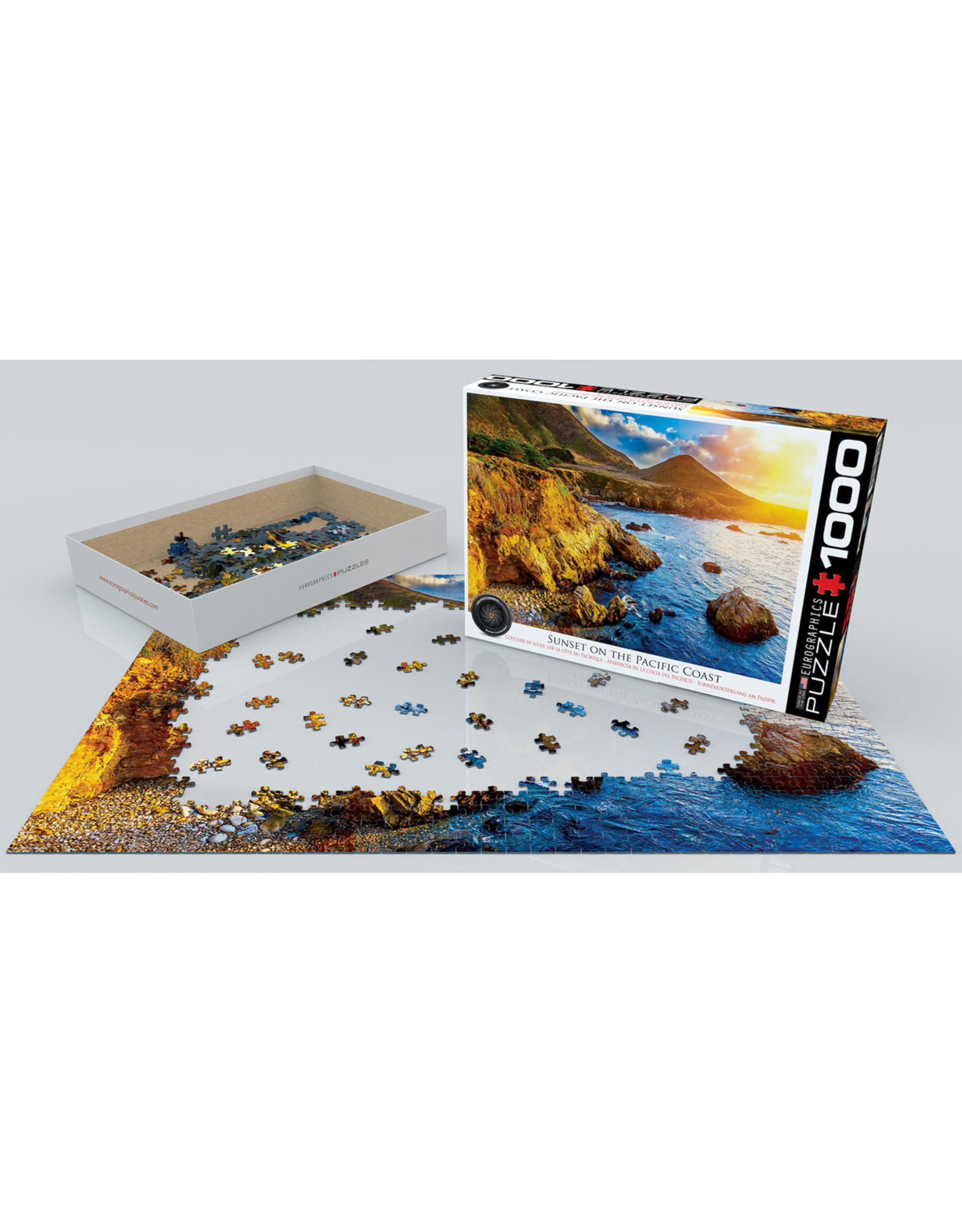 """Eurographics """"Sunset on the Pacific Coast"""" 1000 Piece Puzzle"""