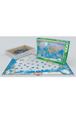 """Eurographics """"Map of the World"""" 1000 Piece Puzzle"""