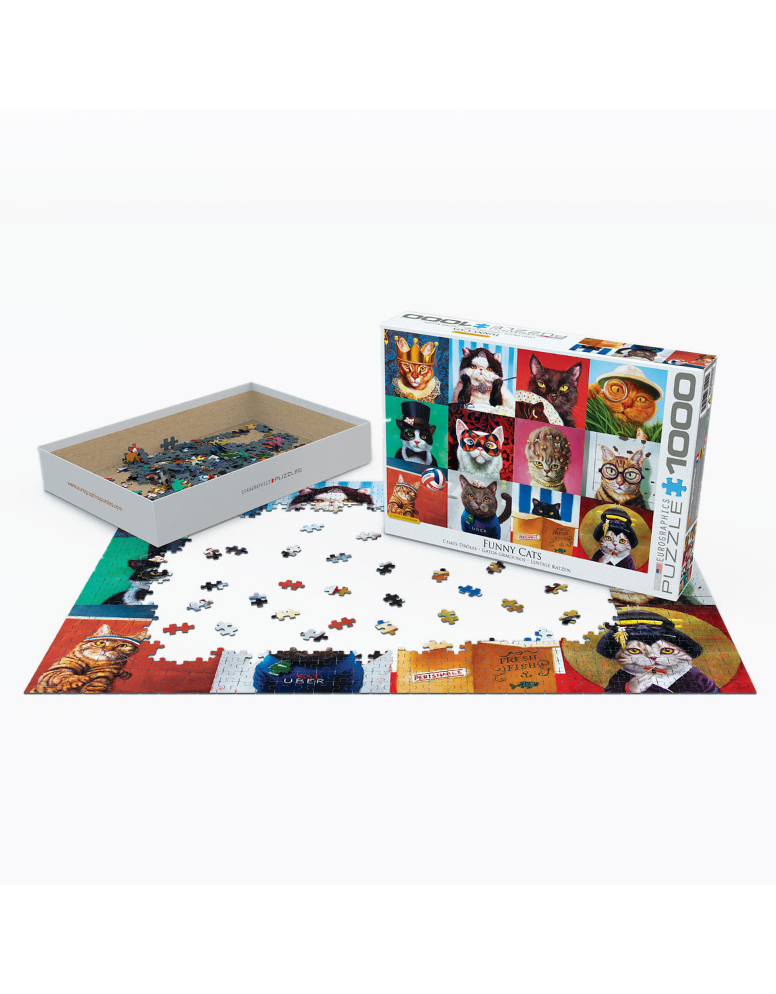 "Eurographics ""Funny Cats"" 1000 Piece Puzzle"