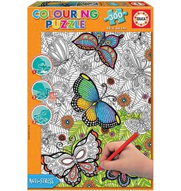 "Educa ""Wild and Free"" 300 Piece Coloring Puzzle"