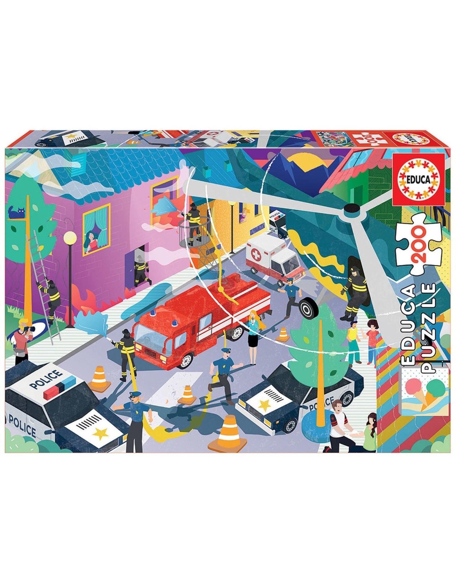 "Educa ""Emergency Services"" 200 Piece Puzzles"