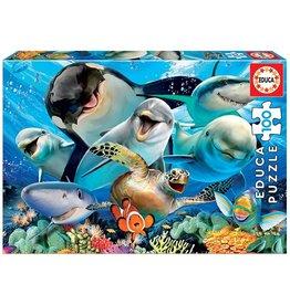 """Educa """"Underwater Selfie"""" 100 Piece Puzzle"""