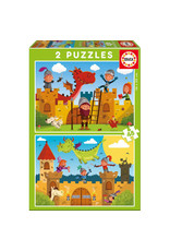 "Educa ""Dragons and Knights"" 2x 48 Piece Puzzles"