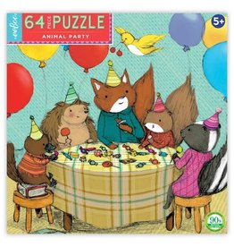 "eeBoo ""Animal Party"" 64 Piece Puzzle"