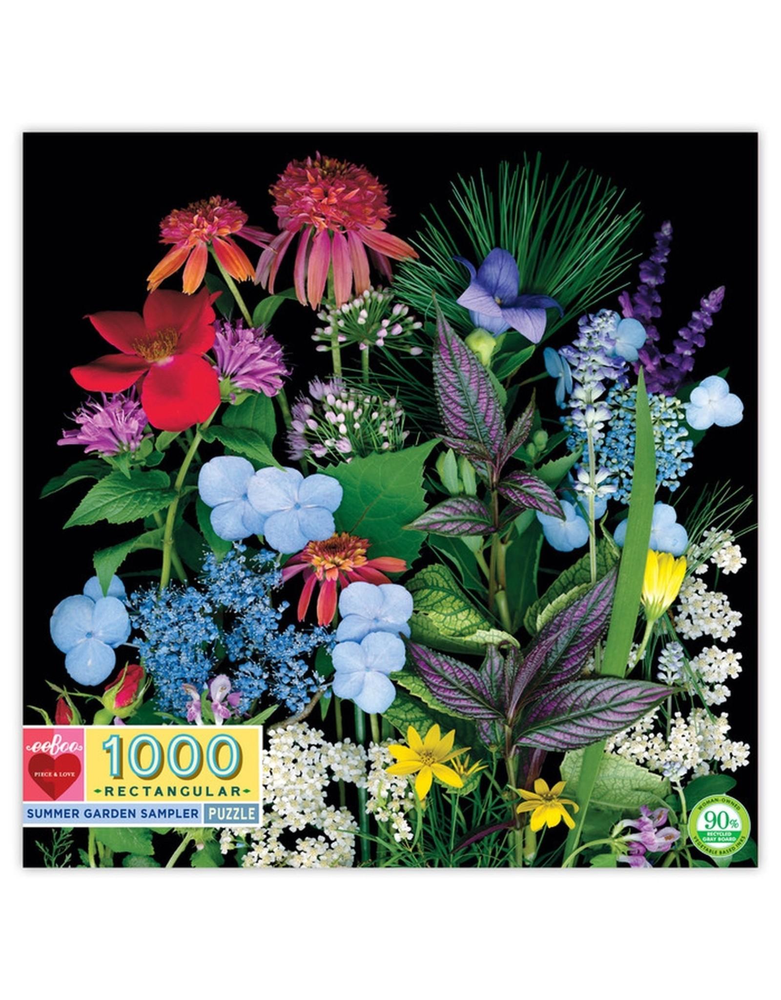"eeBoo ""Summer Garden Sampler""  1000 Piece Puzzle"