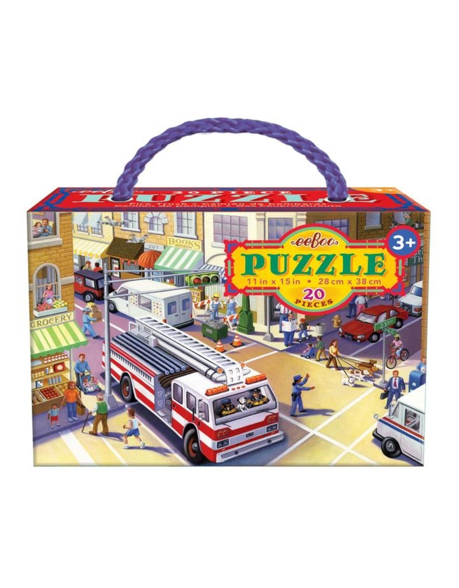 "eeBoo ""Fire Truck"" 20 Piece Puzzle"