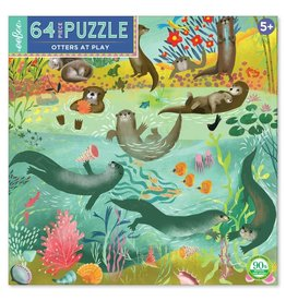 "eeBoo ""Otters at Play"" 64 Piece Puzzle"