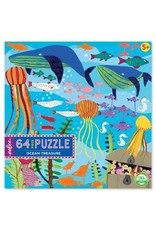 "eeBoo ""Ocean Treasure"" 64 Piece Puzzle"