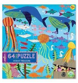 """eeBoo """"Ocean Treasure"""" 64 Piece Puzzle"""