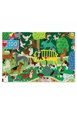 "eeBoo ""Dogs at Play"" 100 Piece  Puzzle"