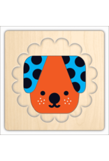 Mudpuppy Animal Faces 4 Layer Wood Puzzle