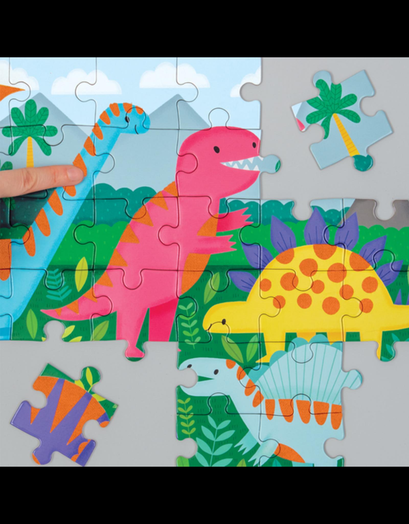 "Mudpuppy ""Dinosaurs"" 42 Piece Fuzzy Puzzle"