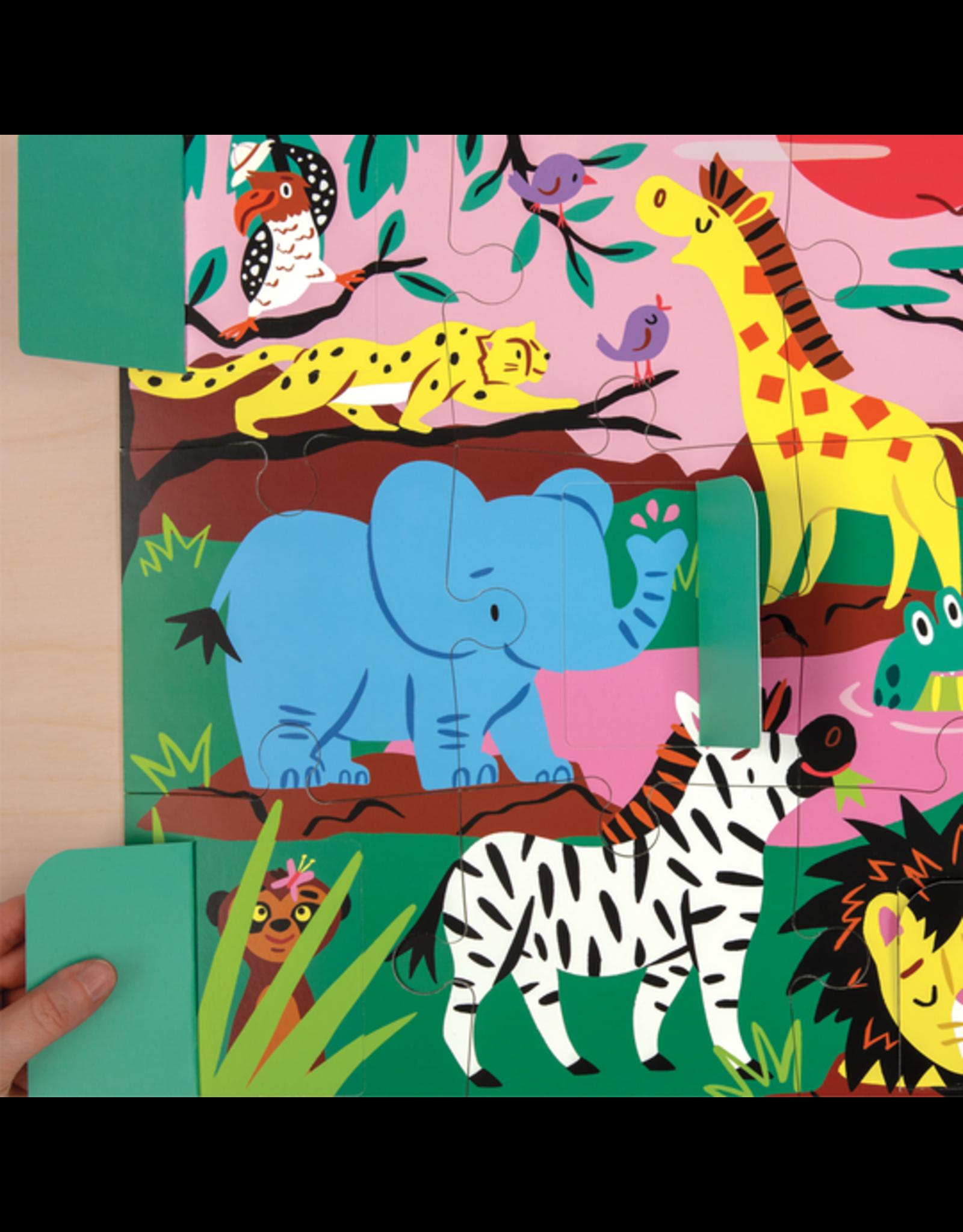 "Mudpuppy ""On Safari"" Lift-the-Flap 12 Piece Puzzle"
